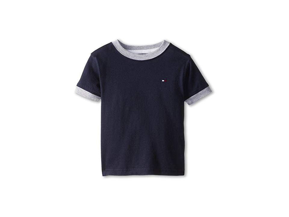 d9330662 Tommy Hilfiger Kids Ken Tee (Toddler/Little Kids) (Core Navy) Boy's T Shirt.  Soft simple and stylish. The Ken Tee will keep the kiddo in style for all  ...