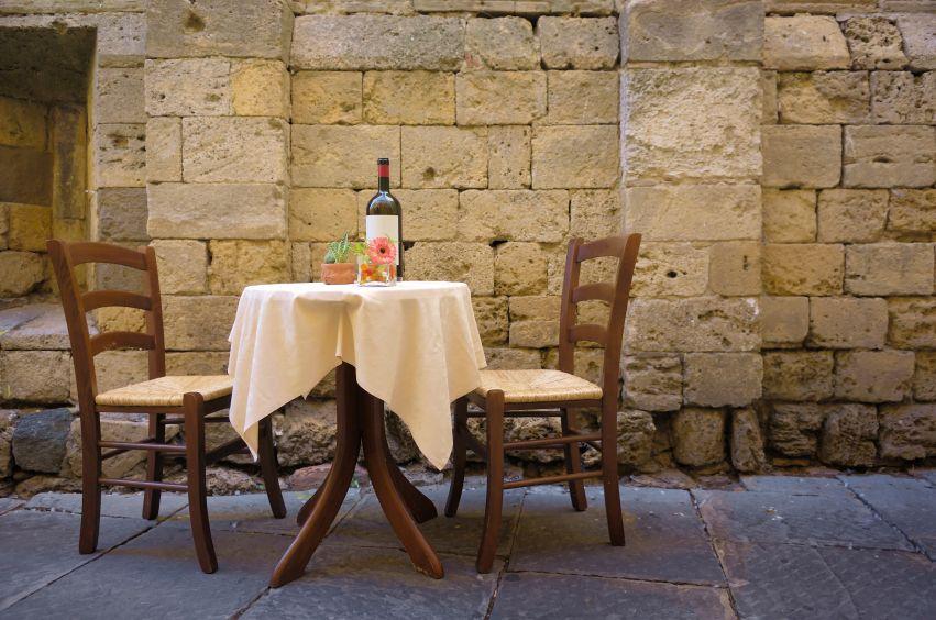 Wonderful At The Italian Dinner Table