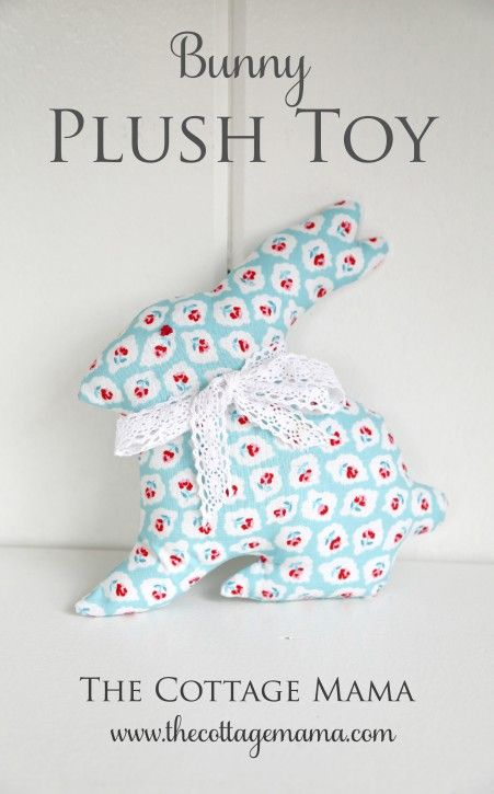 Bunny Plush Toy Tutorial by Lindsay Wilkes from The Cottage Mama ...