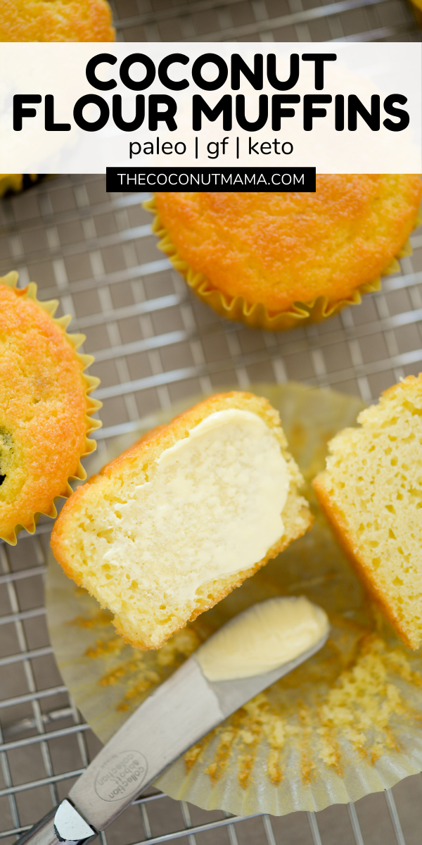 These One Bowl Coconut Flour Muffins Are Tender And Light These Muffins Are Paleo In 2021 Coconut Flour Muffins Coconut Flour Muffins Recipe Baking With Coconut Flour
