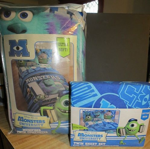monsters university bedding | New Disney Monsters University Twin Bedding Comforter Sheet Set Sulley ...