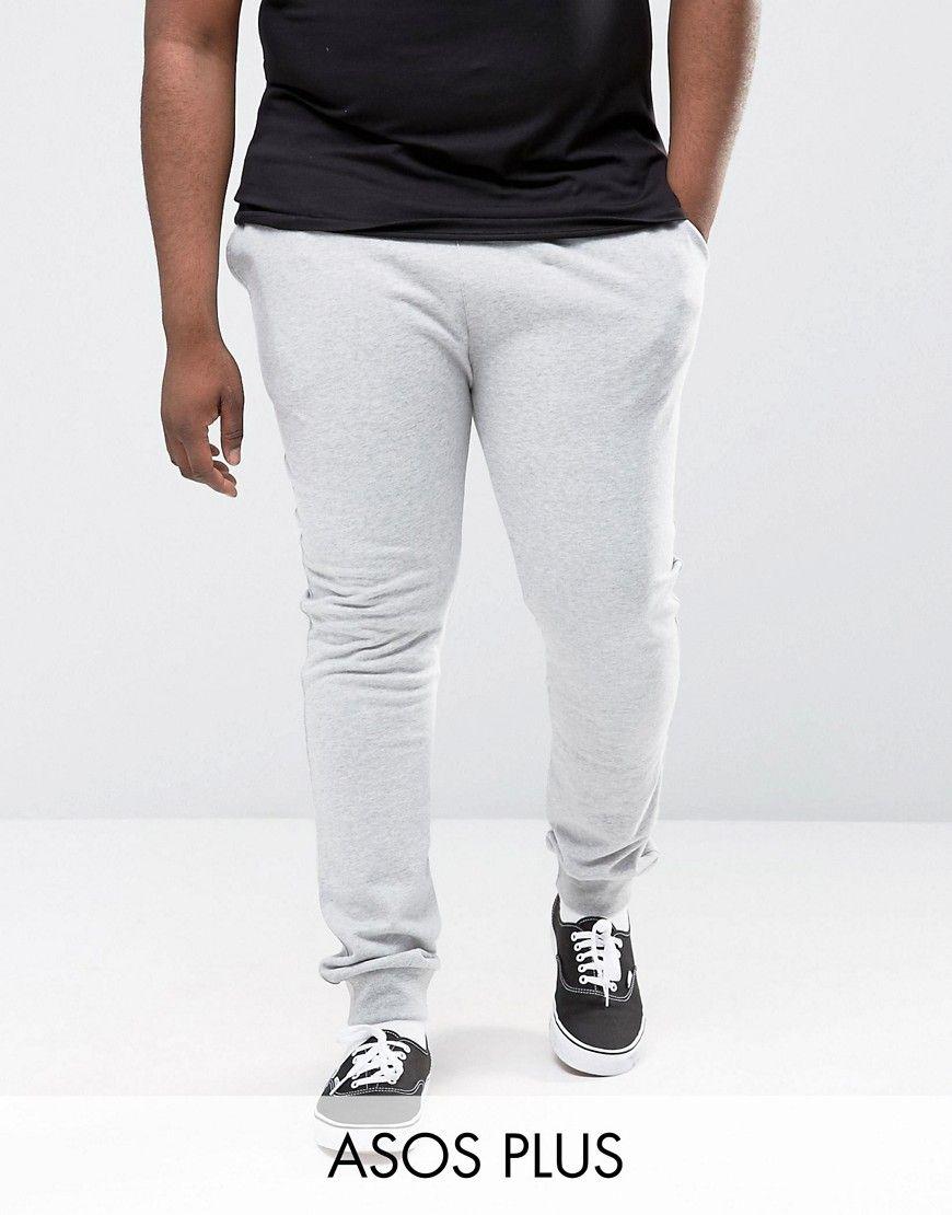 36b6b769 ASOS PLUS Super Skinny Joggers In Gray Marl - Gray | Men's Gray ...