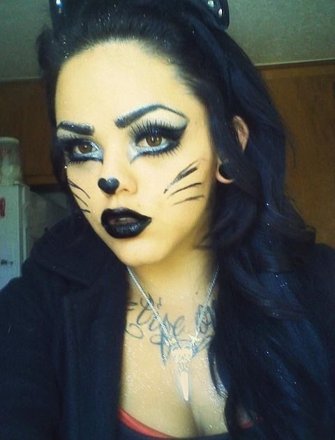 Cat Eyes halloween costume makeup but instead of black lips, do ...