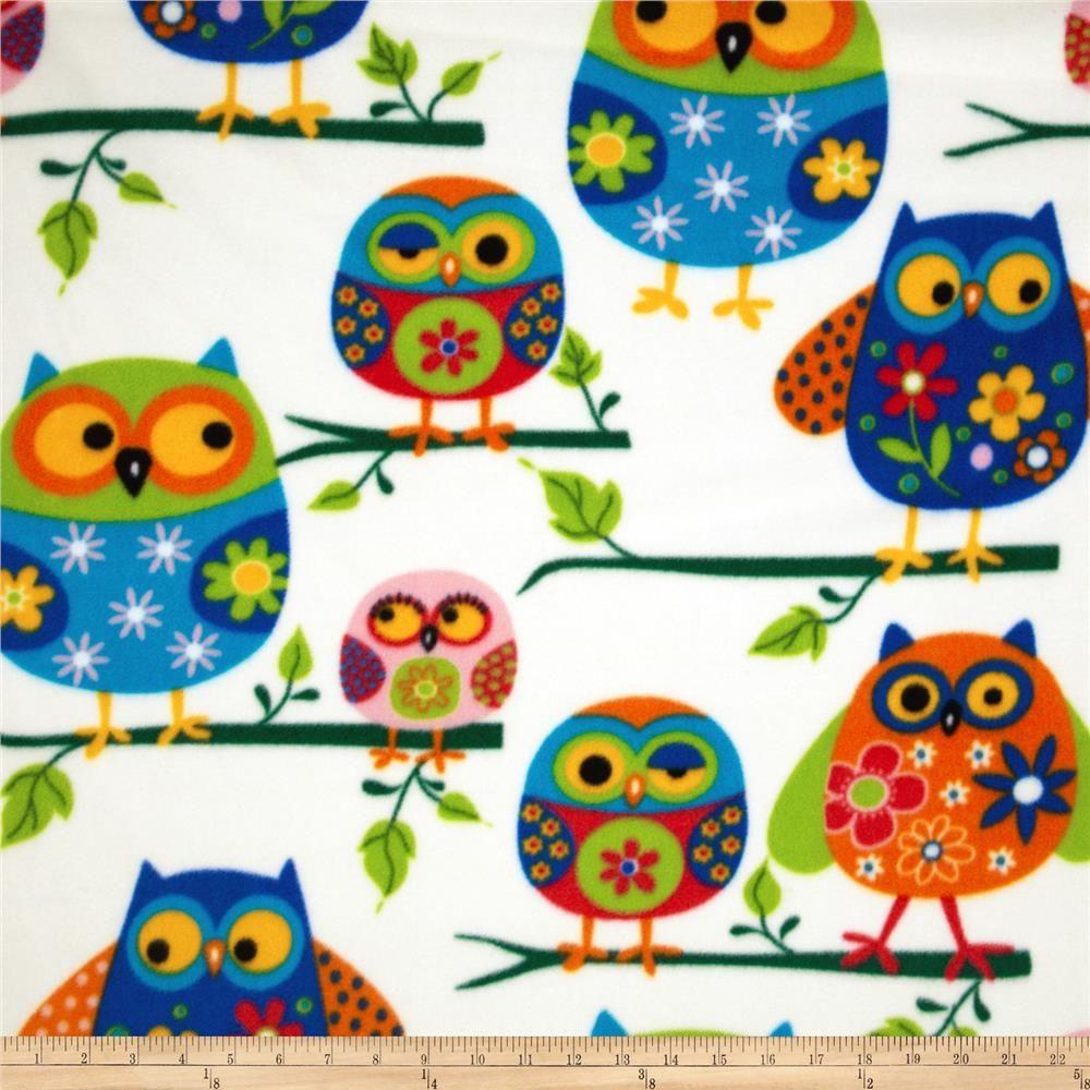 Winter Fleece Owls Multi Soft hands Mittens and Owl