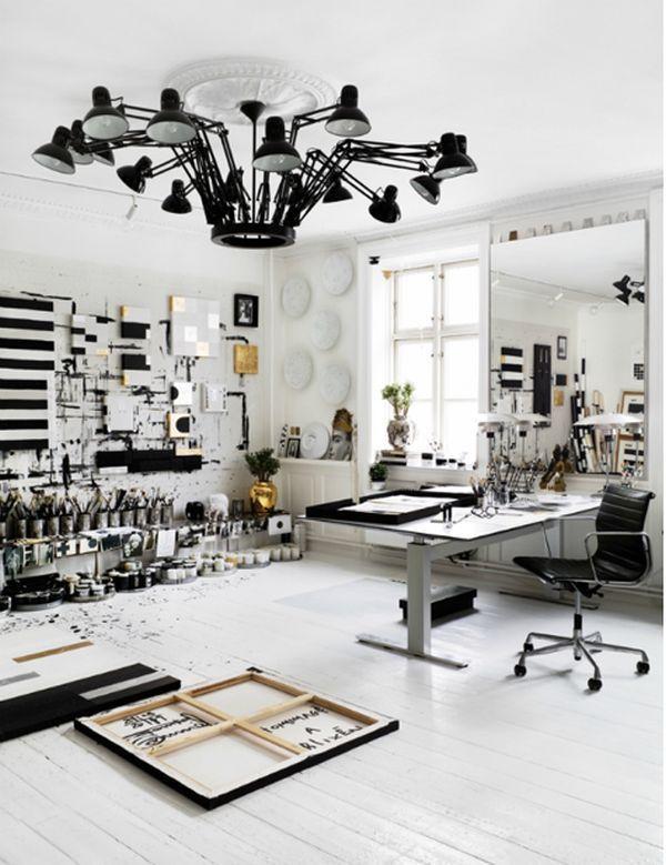 art studio lighting design. 19 Artist\u0027s Studios And Workspace Interior Design Ideas Art Studio Lighting