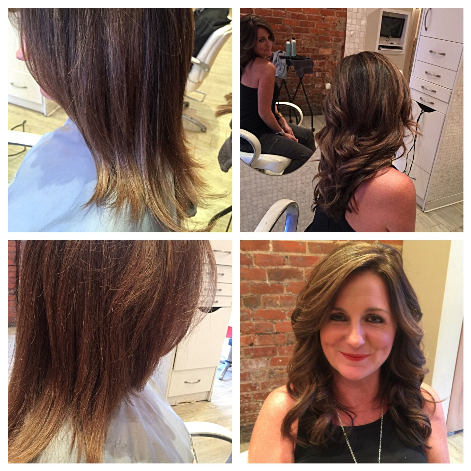 Before And After Hair Extensions Cut Color And Styles By Racheal