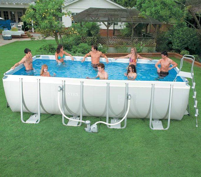 Intex Ultra Frame 400 X 200 X 100 Cm 33990 Dinara Samo Na Http Www Svezakucu Rs Www 28046 Swiming Pool Pool Designs Pool