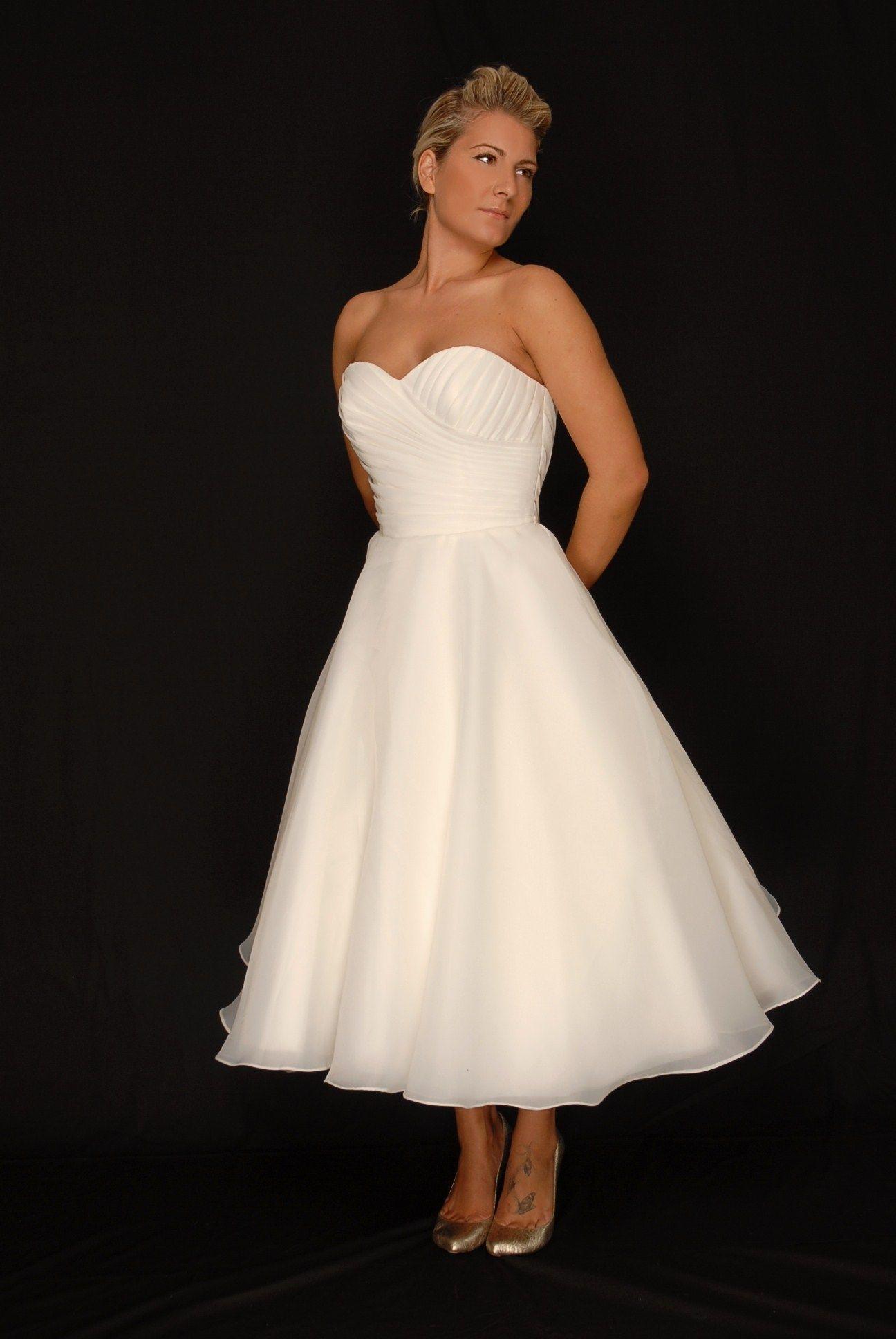 dress, little longer. any simple, white, strapless dress