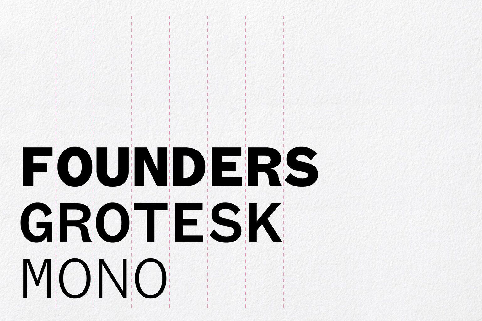 Founders Grotesk Mono, designed by Kris Sowersby of Klim