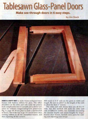#1223 Tablesawn Glass Panel Doors   Cabinet Door Construction Techniques