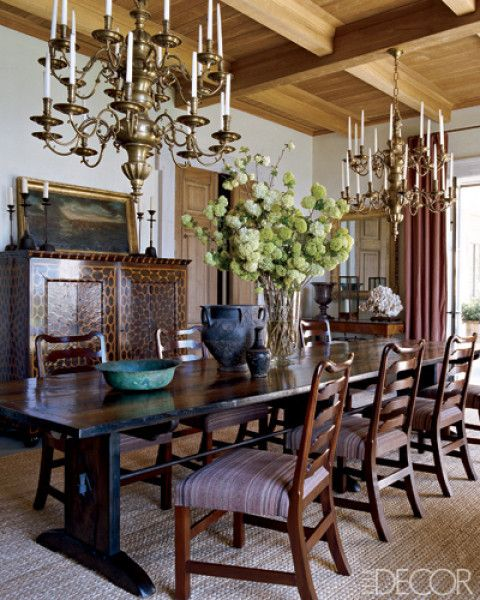elle decor dining room/traditional