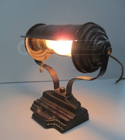 Vintage Art Deco Bankers Desk Lamp - Vintage Art Deco Bankers Desk Lamp Goodwill Finds Pinterest