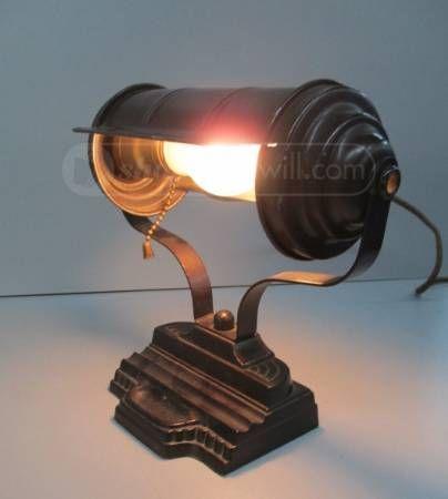 Vintage Art Deco Bankers Desk Lamp