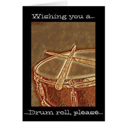Rockin Drummer Birthday Card Drum Music Greeting