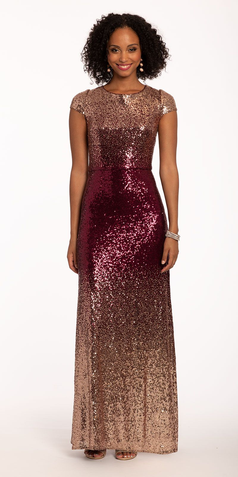 Achieve Celeb Status In This Ritzy Wedding Guest Dress Featuring A Jewel Neckline Fitted Bodice And O Glamorous Evening Gowns Column Dress Glamourous Evening [ 1600 x 800 Pixel ]