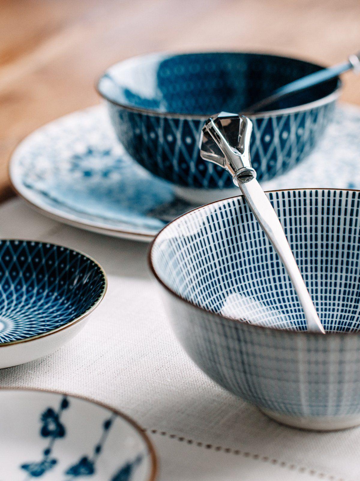 Dieses Geschirr Passt Zu Jedem Anlass Geschirr Schones Geschirr Blau Muster