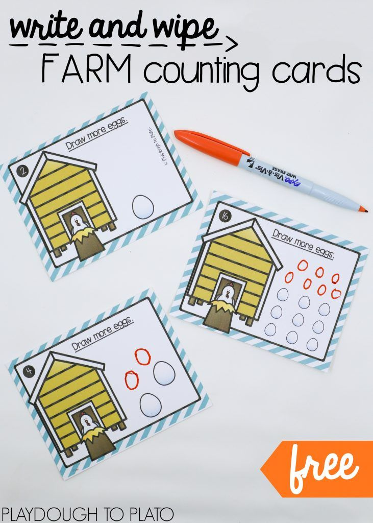 Farm Counting Cards | Fun math, Math and Activities