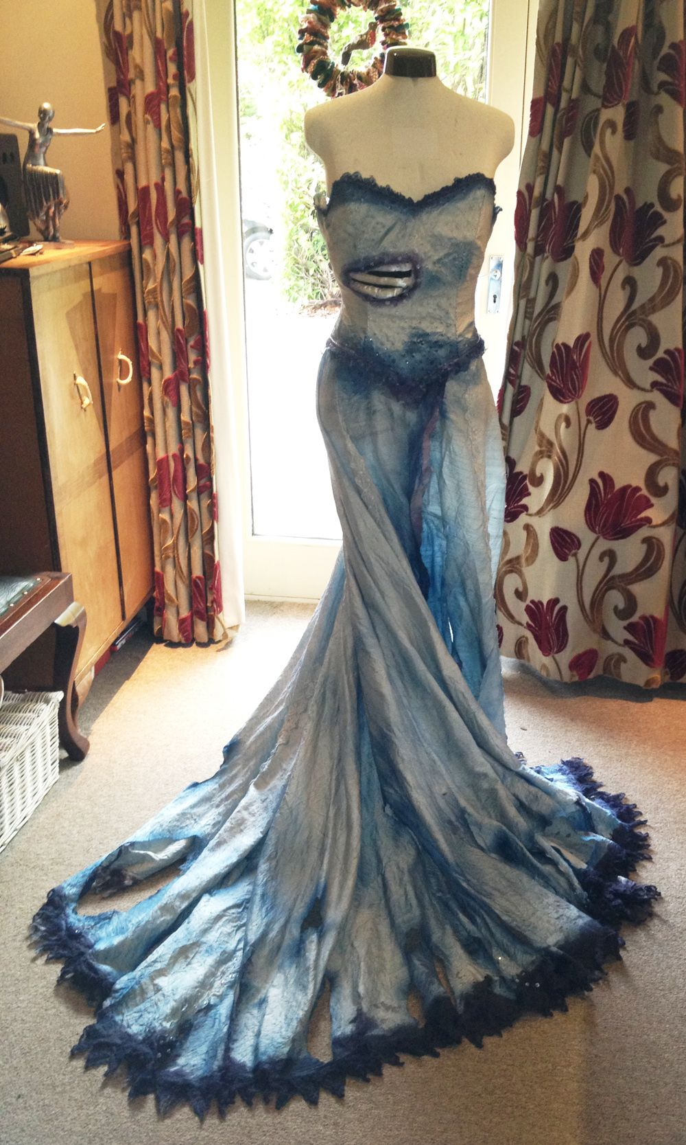 wedding dress halloween costume handmade corpse bride costume front still want this idea for save the date photos Need find someone help me make this dress
