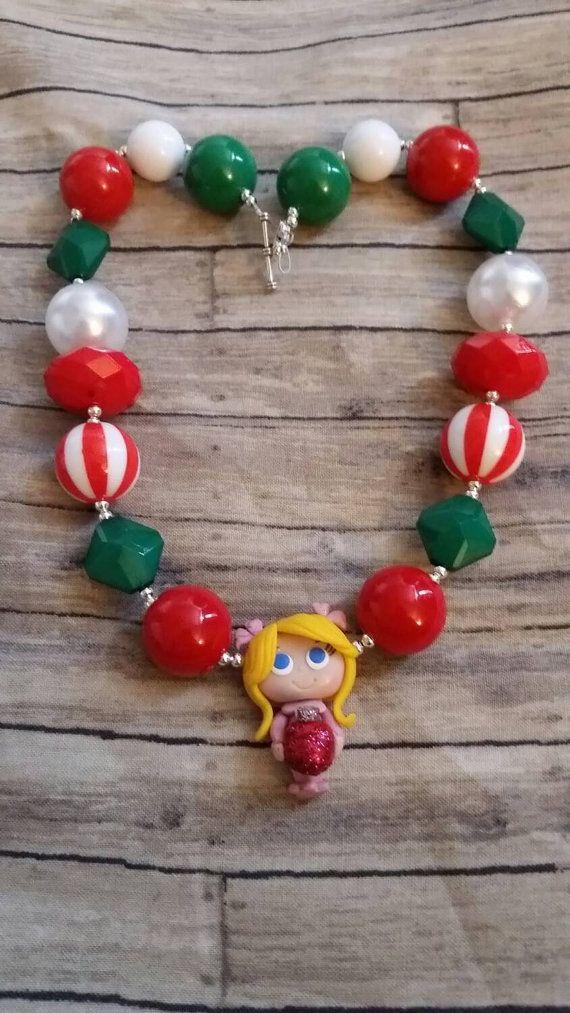 Cindy Lou Who necklace!   , I found this really awesome Etsy listing at https://www.etsy.com/listing/211837172/chunky-bubblegum-bead-christmas-cindy