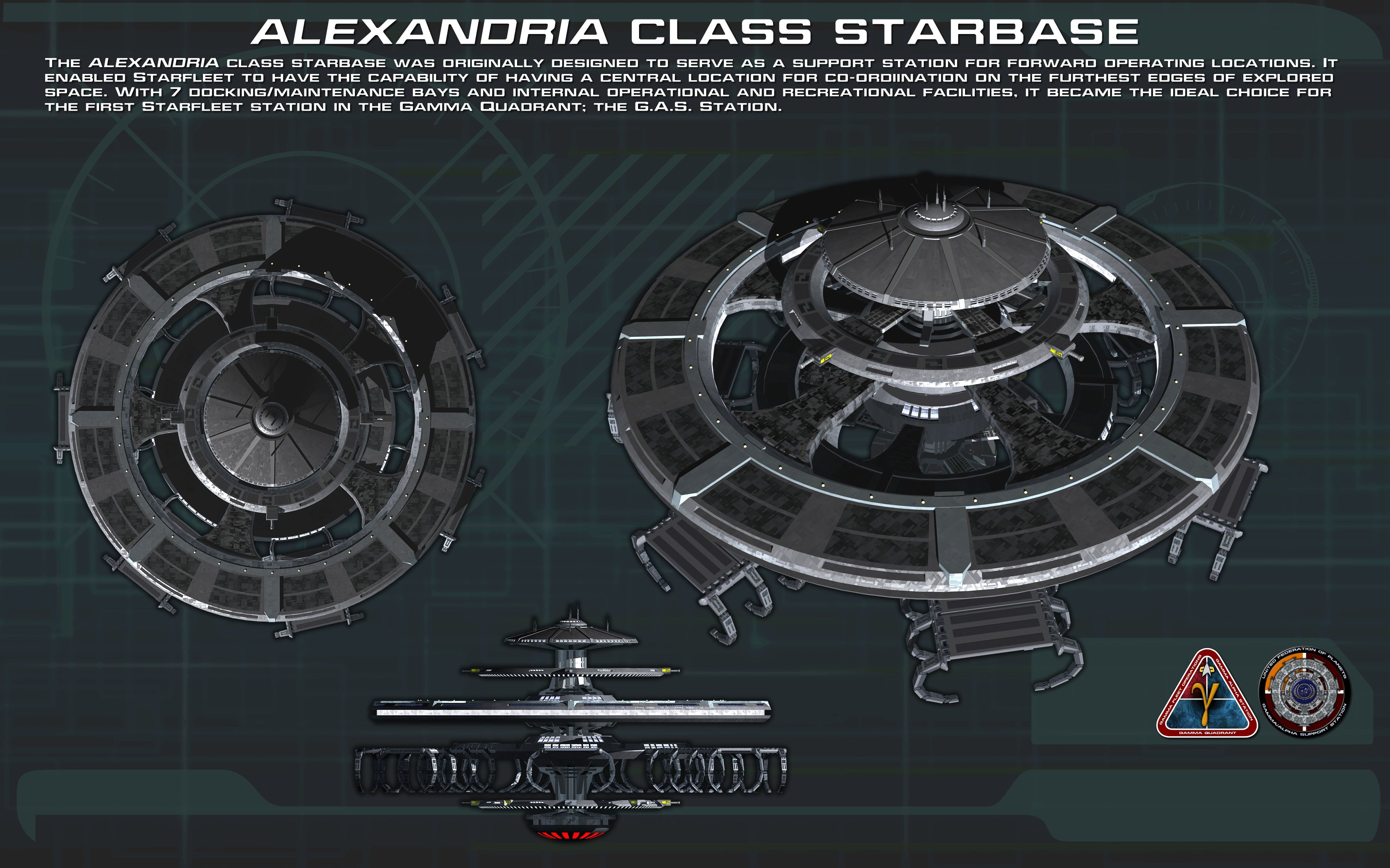 Alexandria class starbase ortho New by unusualsuspex