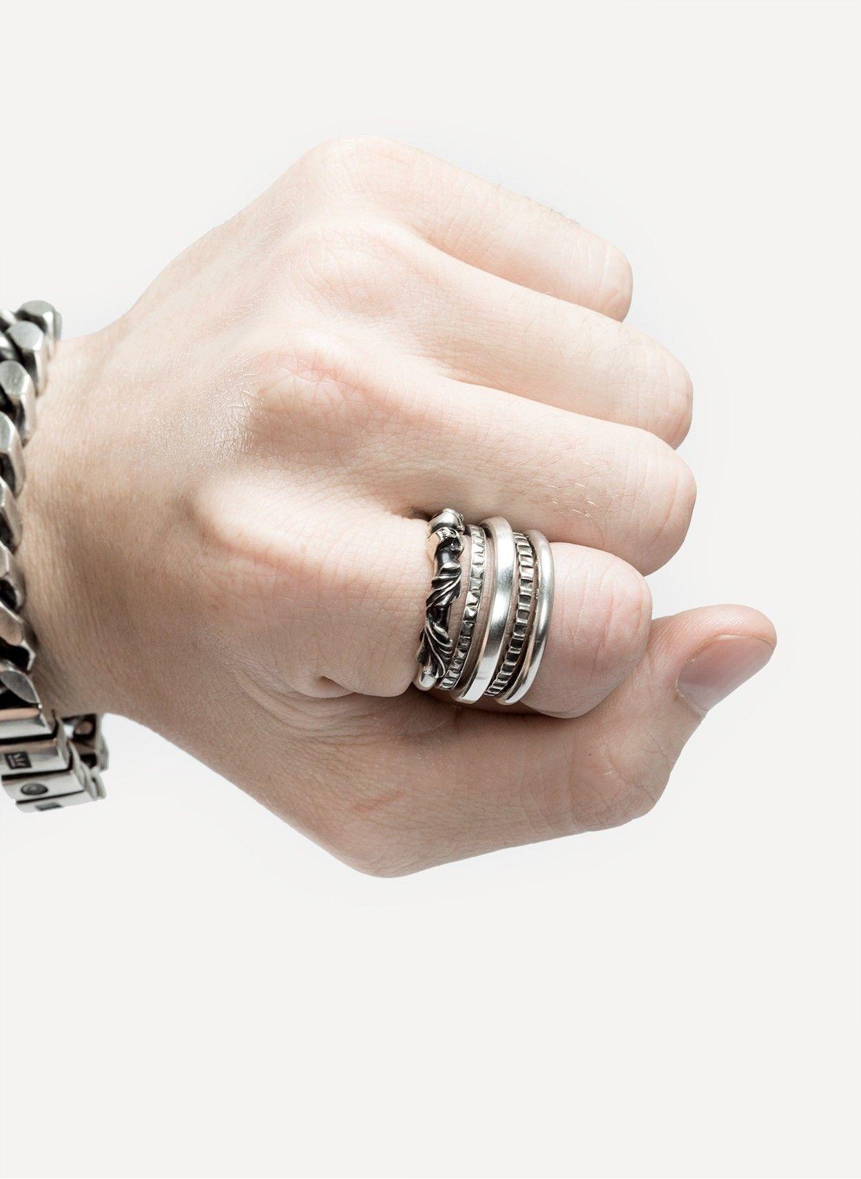 4cc013bbedc Werkstatt Munchen 13M118 5-Ring Combination Chrome Hearts