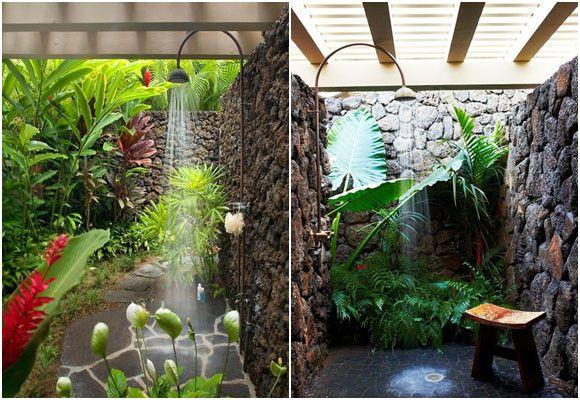 Resultado de imagen para duchas spa hotel ducha solar for Duchas rusticas piedra