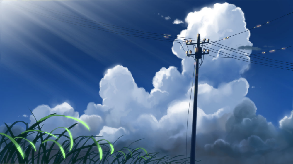 Anime Cloud Tutorial Cloud Tutorial Scenery Background Clouds