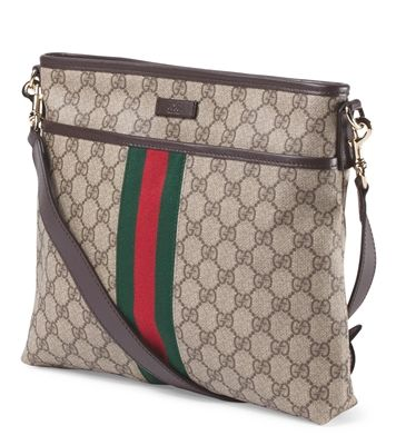 2436939e959 GUCCI Made In Italy Coated Canvas Logo Crossbody