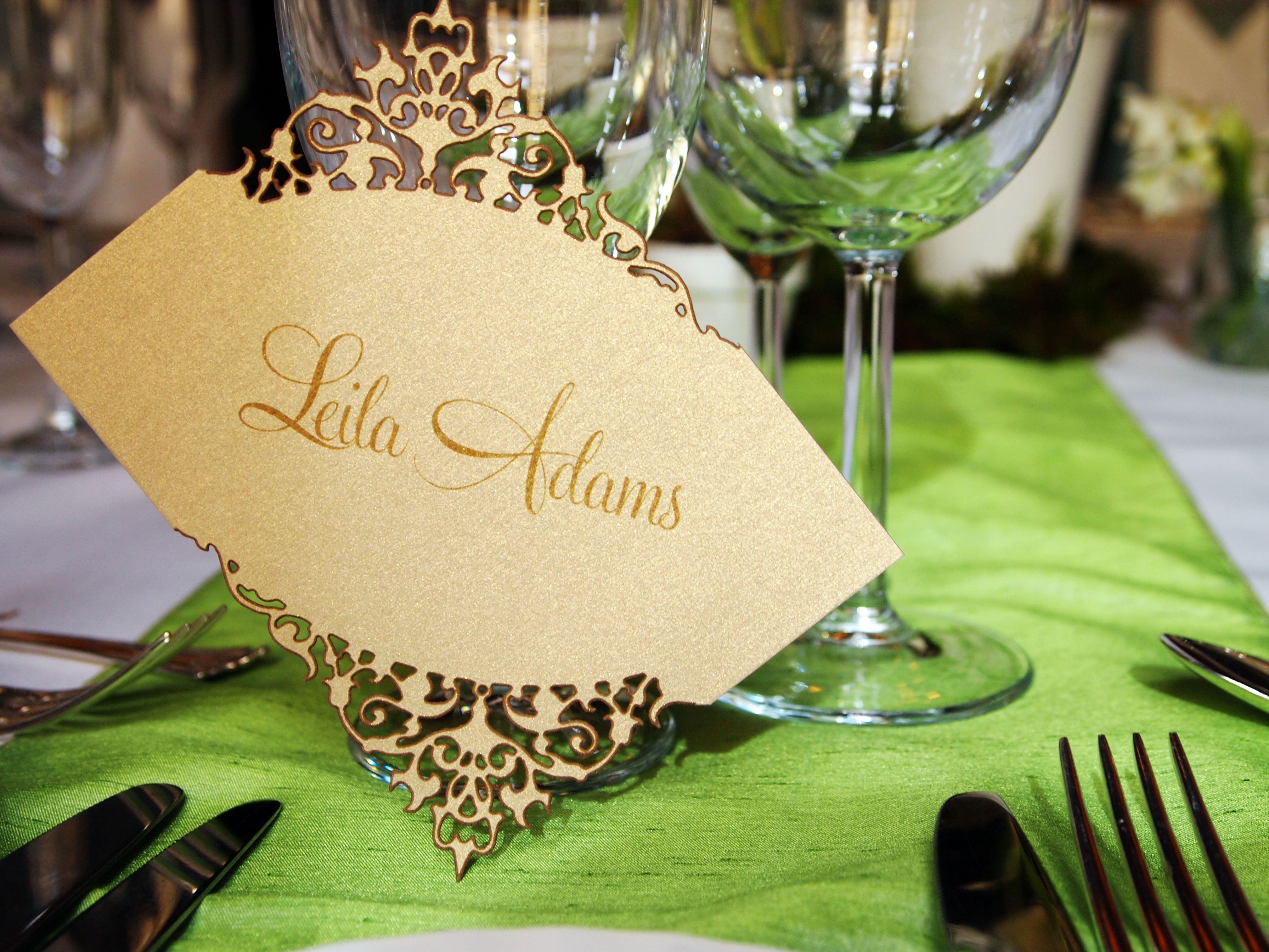 Laser-Cut Place Name Setting