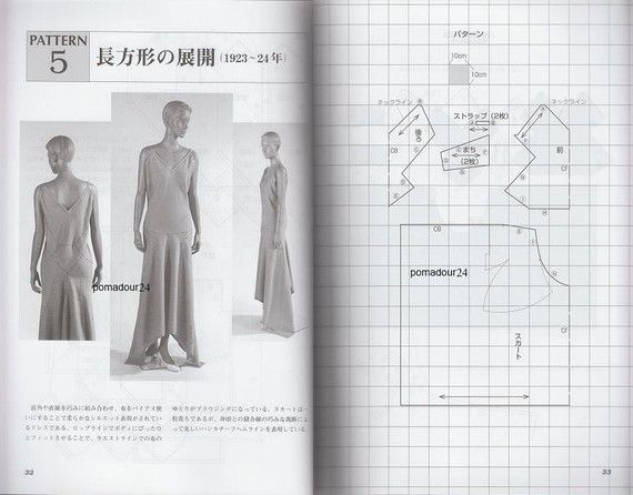VIONNET - Japanese Dress Pattern Book MM | Pattern books, Dress ...
