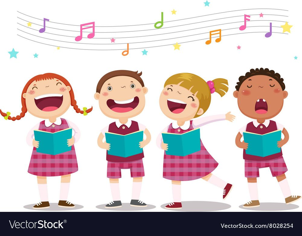 Choir Girls And Boys Singing A Song Royalty Free Vector Spon Boys Singing Choir Girls Ad Drawing For Kids Kids Doodles Choir