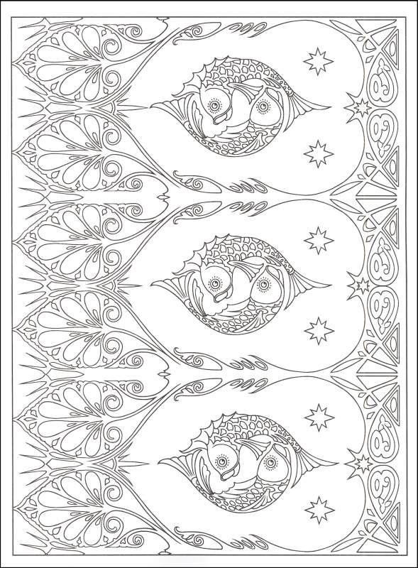 Art Nouveau Patterns Coloring Book