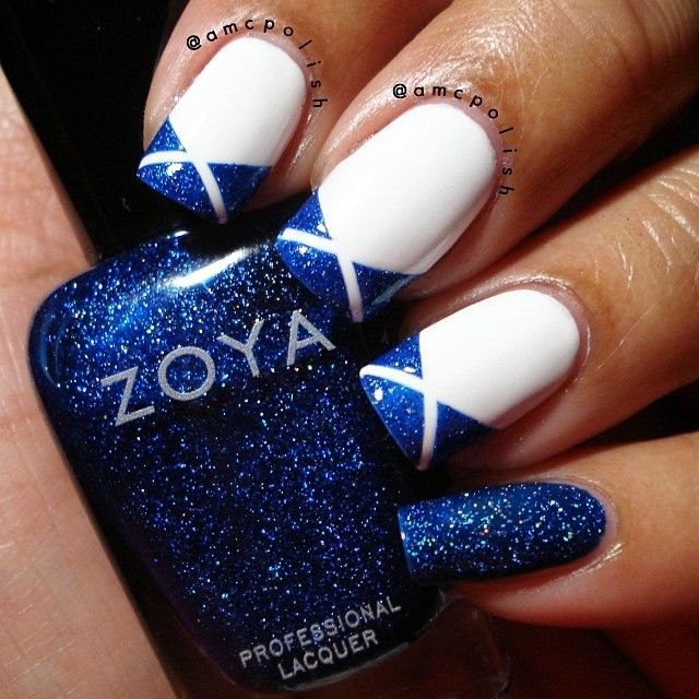 Blue Nails. Glitter. Zoya. Nail Art. Nail Design. Polishes