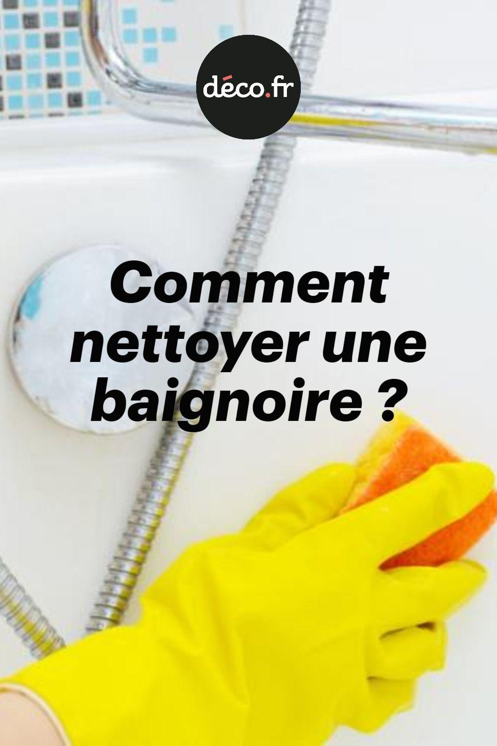 Nettoyer Vitre Salle De Bain Calcaire comment nettoyer une baignoire | comment nettoyer, nettoyage