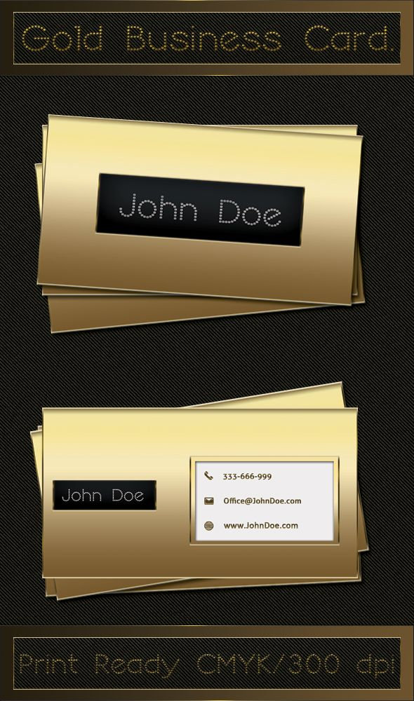 Print Ready Luxury Gold Business Card Template Available For Free