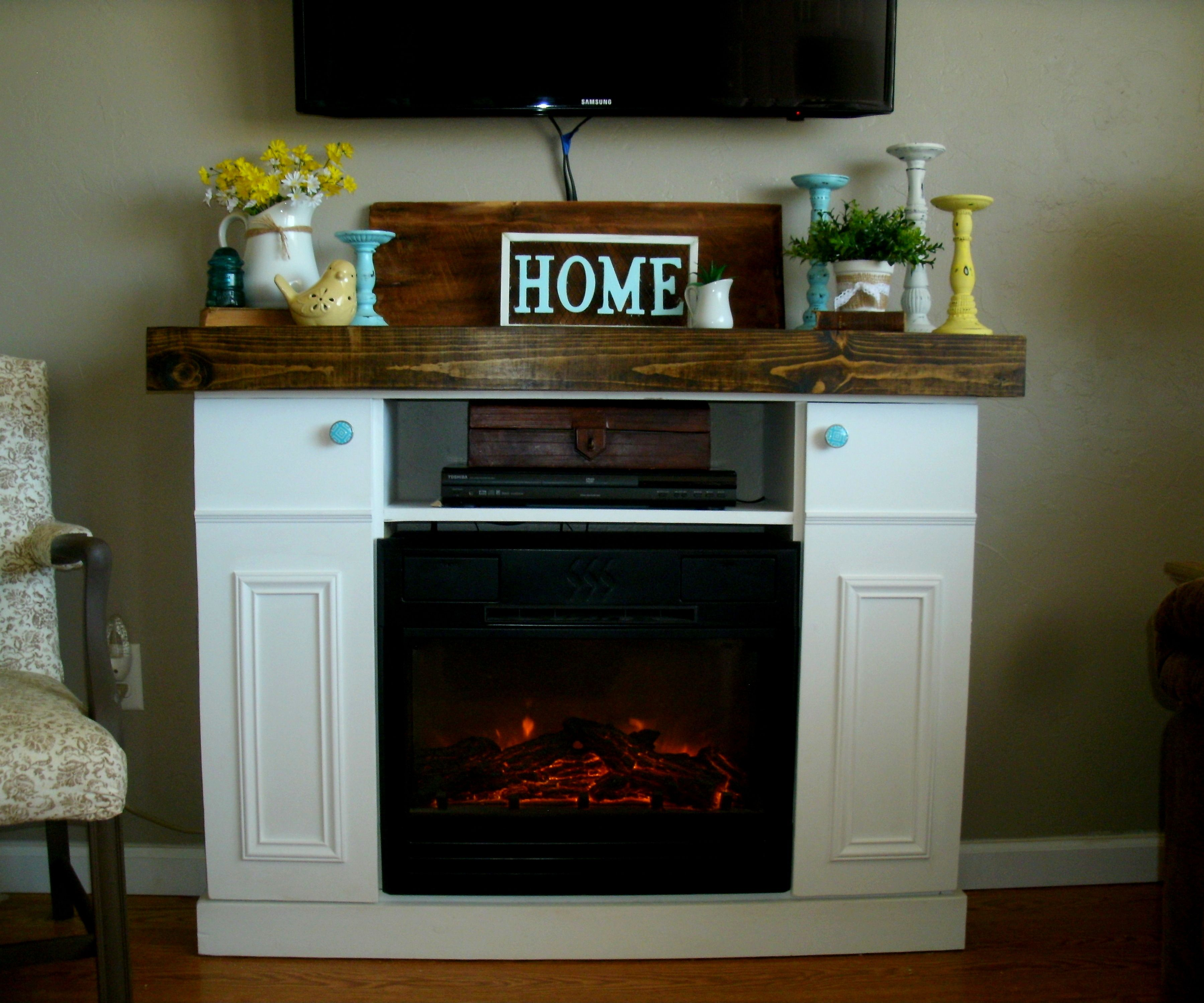 Ana White Diy Faux Fireplace Mantle With Hidden Storage Diy
