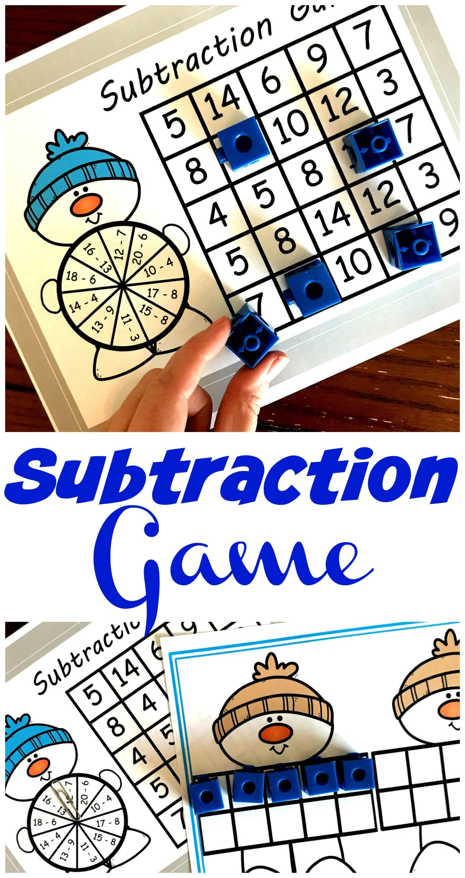 Grab This Free Christams Subtraction Games For Kids