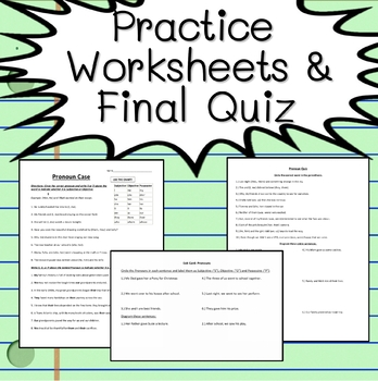 Pronouns Grammar MiniUnit (Diagramming Worksheets, PPTs