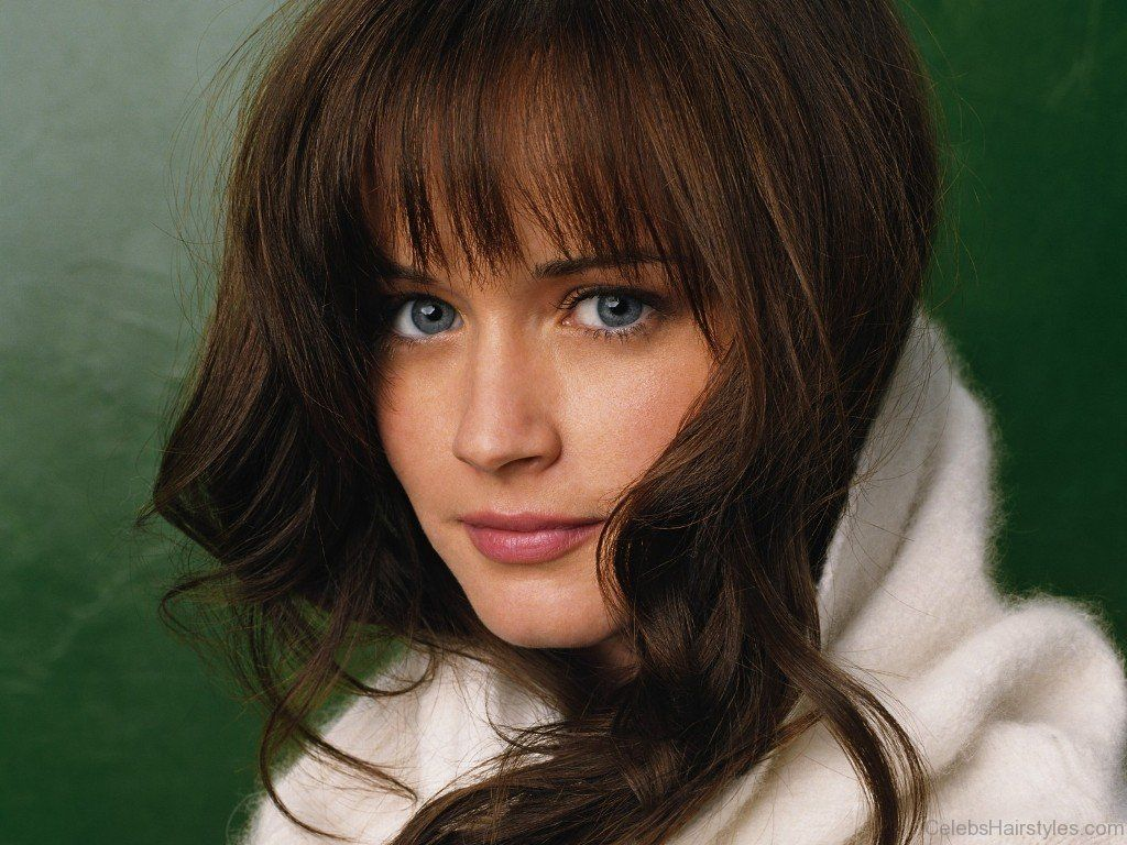 Alexis Bledel Long Haircut Hair styles in 2019 Alexis