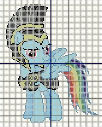 Buzy Bobbins Rainbow Dash At The Harths Warming Eve Pageant Cross Stitch Design Beaded