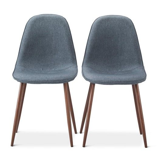 Porter Mid Century Modern Dining Chair Indigo Blue Set of 2
