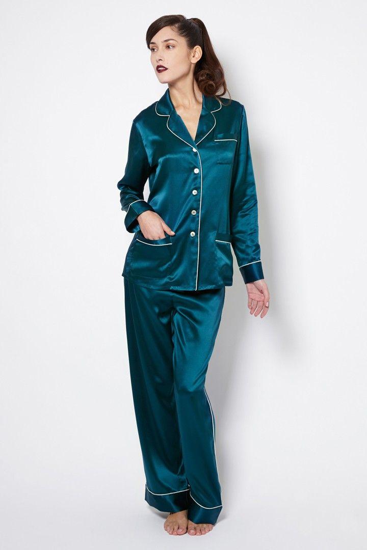 quite nice search for authentic really cheap Coco Forest Green Silk Pyjamas   Pajamas   Silk pajamas ...