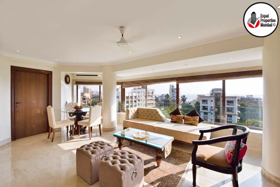 3 Bhk Exclusively Furnished Apartment For Rent At Carter Road Bandra Furnished Apartment Apartments For Rent Apartment