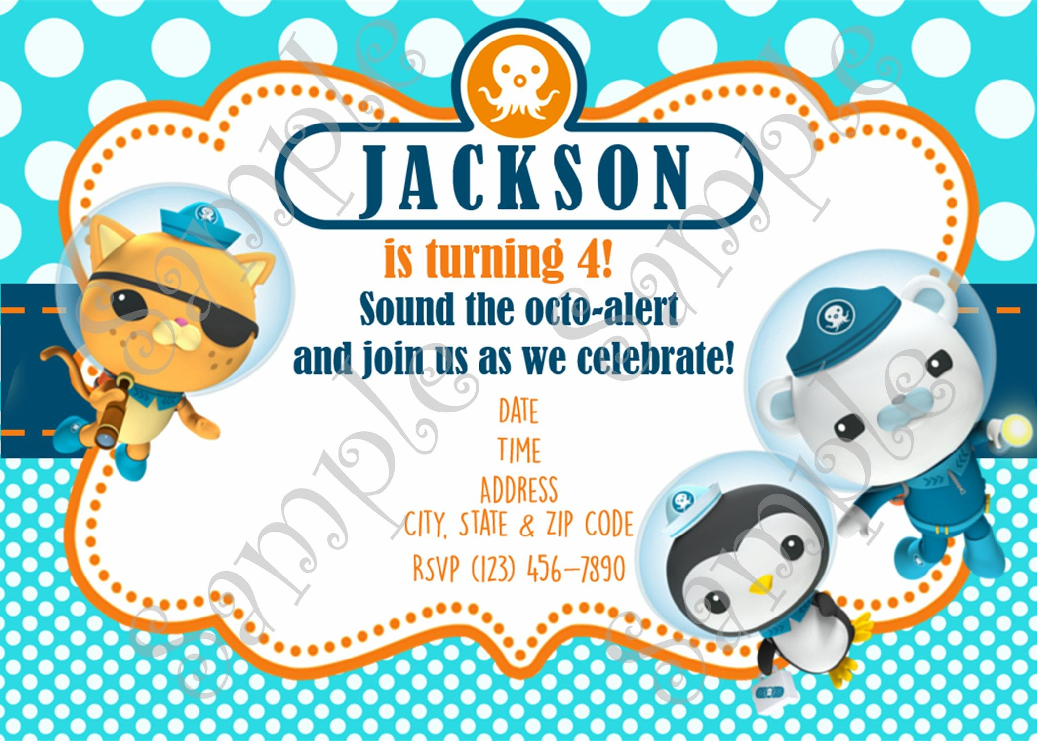 Octonauts Octonauts Birthday Octonauts Invitation Octonauts Thank