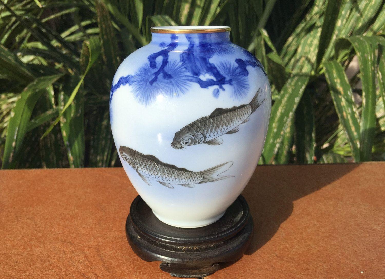 Fukagawa vase sometsuke vaas koi carp goldfish matsu fukagawa vase sometsuke vaas koi carp goldfish matsu pine fukagawa reviewsmspy