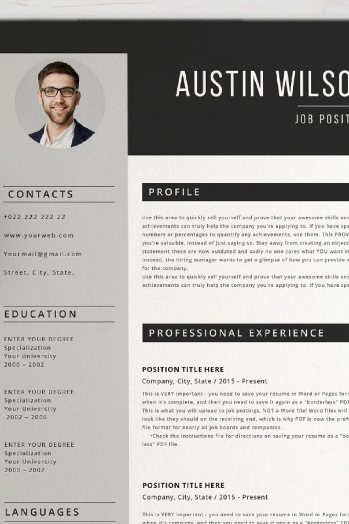 Resume/ CV (With images) Resume writing tips, Best