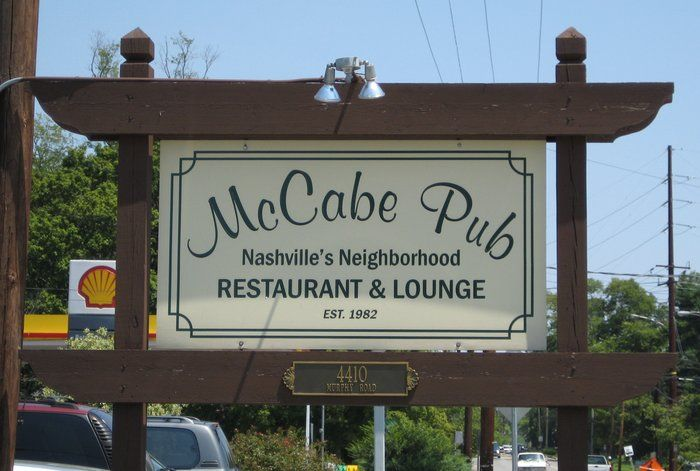 McCabe Pub Inc Restaurant Lounge Murphy Rd Nashville TN - 11 things to see and do in nashville