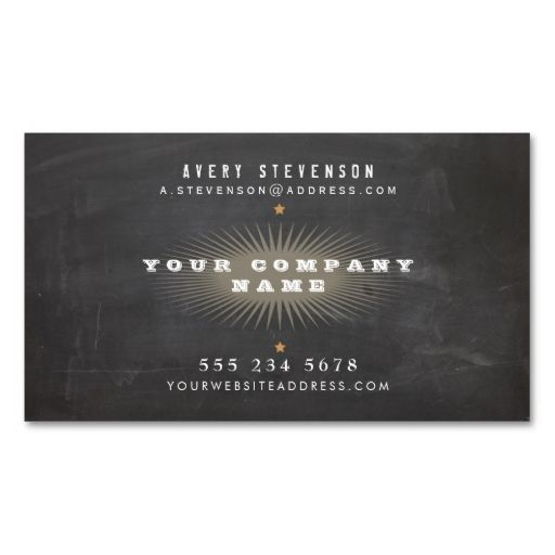 cool retro rustic black vintage typography business card card