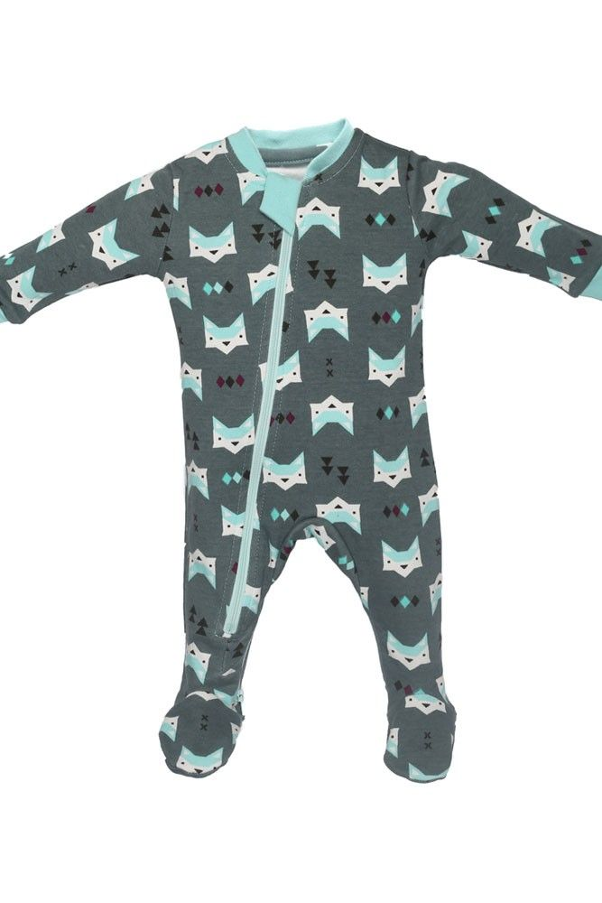 7e0434546 ZippyJamz Organic Baby Footed Sleeper Pajamas w. Inseam Zipper for ...