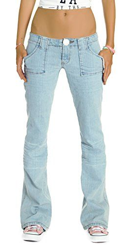 Bestyledberlin damen jeanshosen bootcut jeanshosen j196p